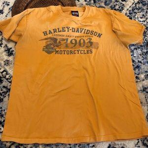 Harley-Davidson Yellow Oversized Graphic Tee